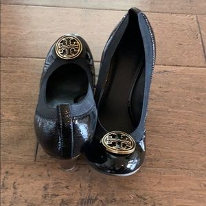 Tory Burch paten leather wedge